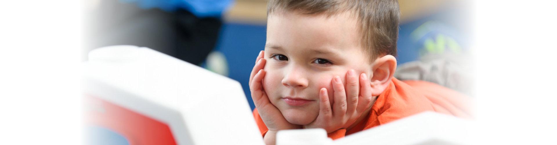 Cute kid looking at the camera